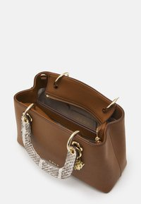 DKNY - TONNY SATCHEL SNAKE - Handbag - chino/coffee - 3