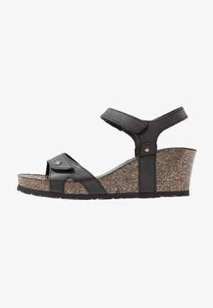 JULIA BASICS - Sandalen met plateauzool - black