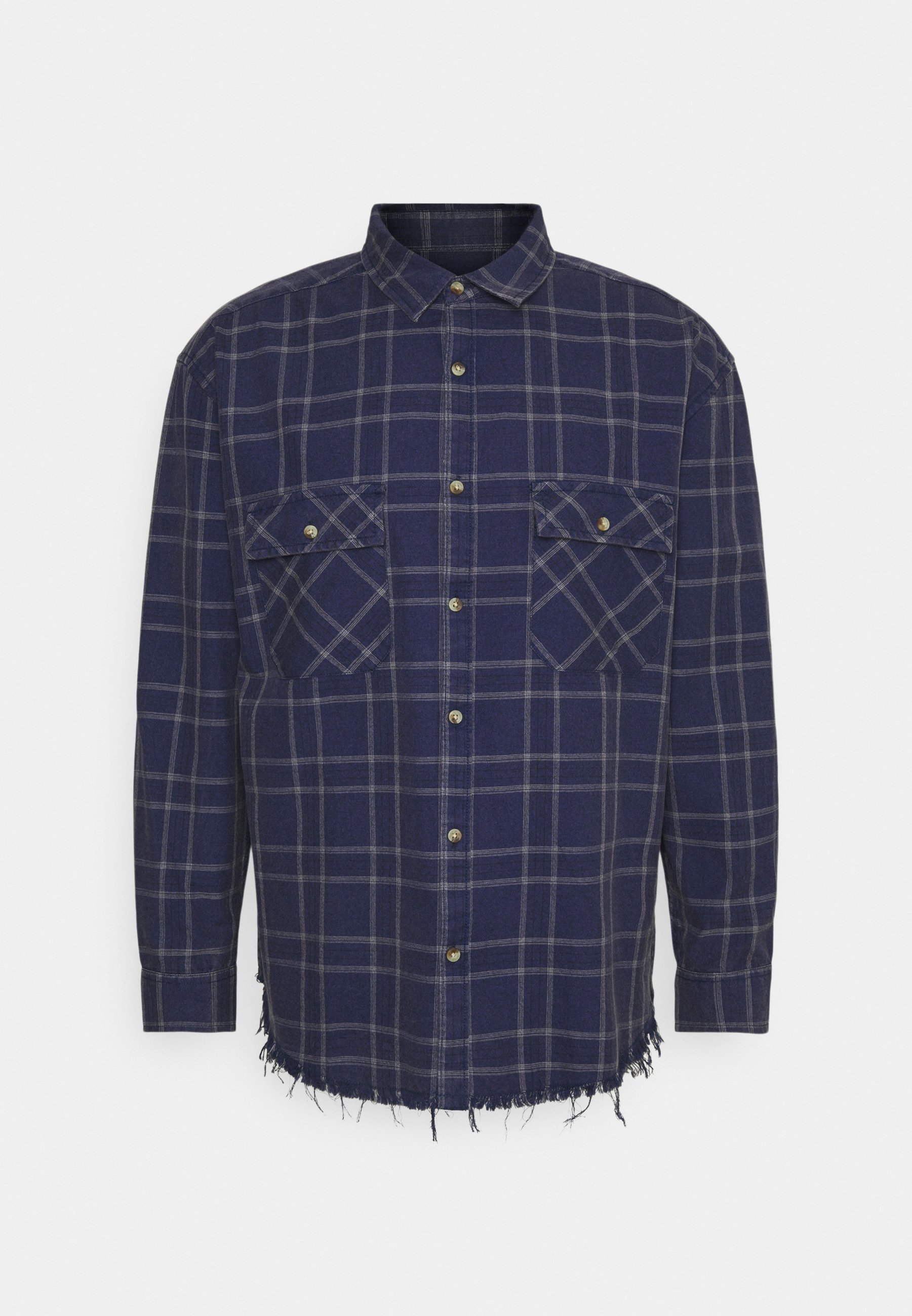 Homme DOUBLE POCKET DISTRESSED CHECK UNISEX - Chemise