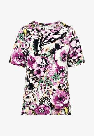 T-shirt print - lilac/green
