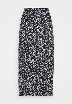 BASIC Midaxi skirt - Falda larga - black/white