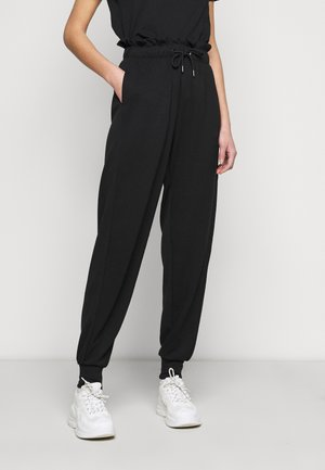 ONLPETRA PAPERBAG PANT - Trousers - black