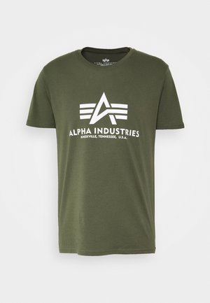 BASIC REFLECTIVE - Print T-shirt - dark olive