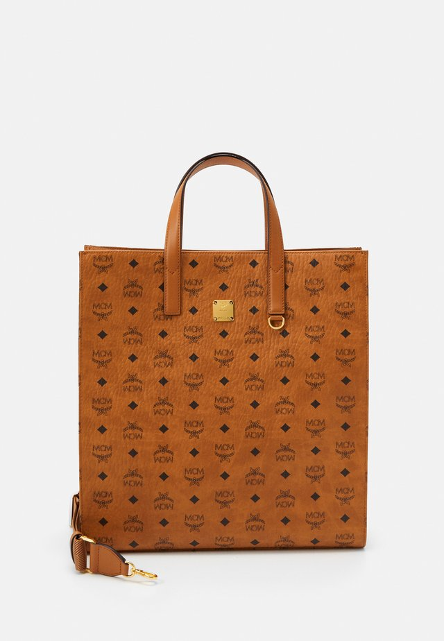 TOTE MED UNISEX - Shopping bags - cognac