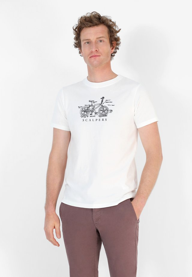 BMX TEE - T-shirt con stampa - off white