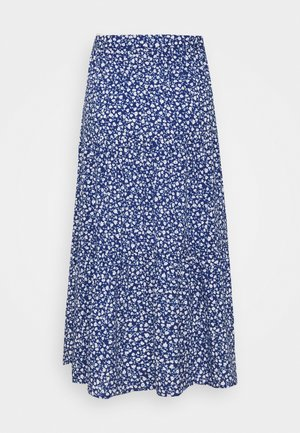 JUNE SKIRT - Jupe longue - blue