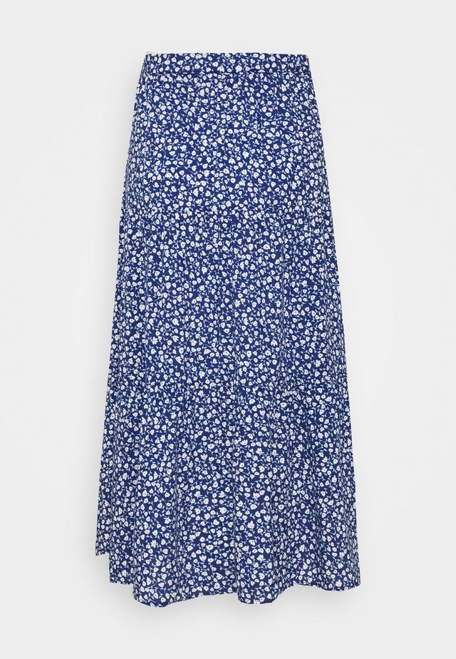 JUNE SKIRT - Maxi skirt - blue