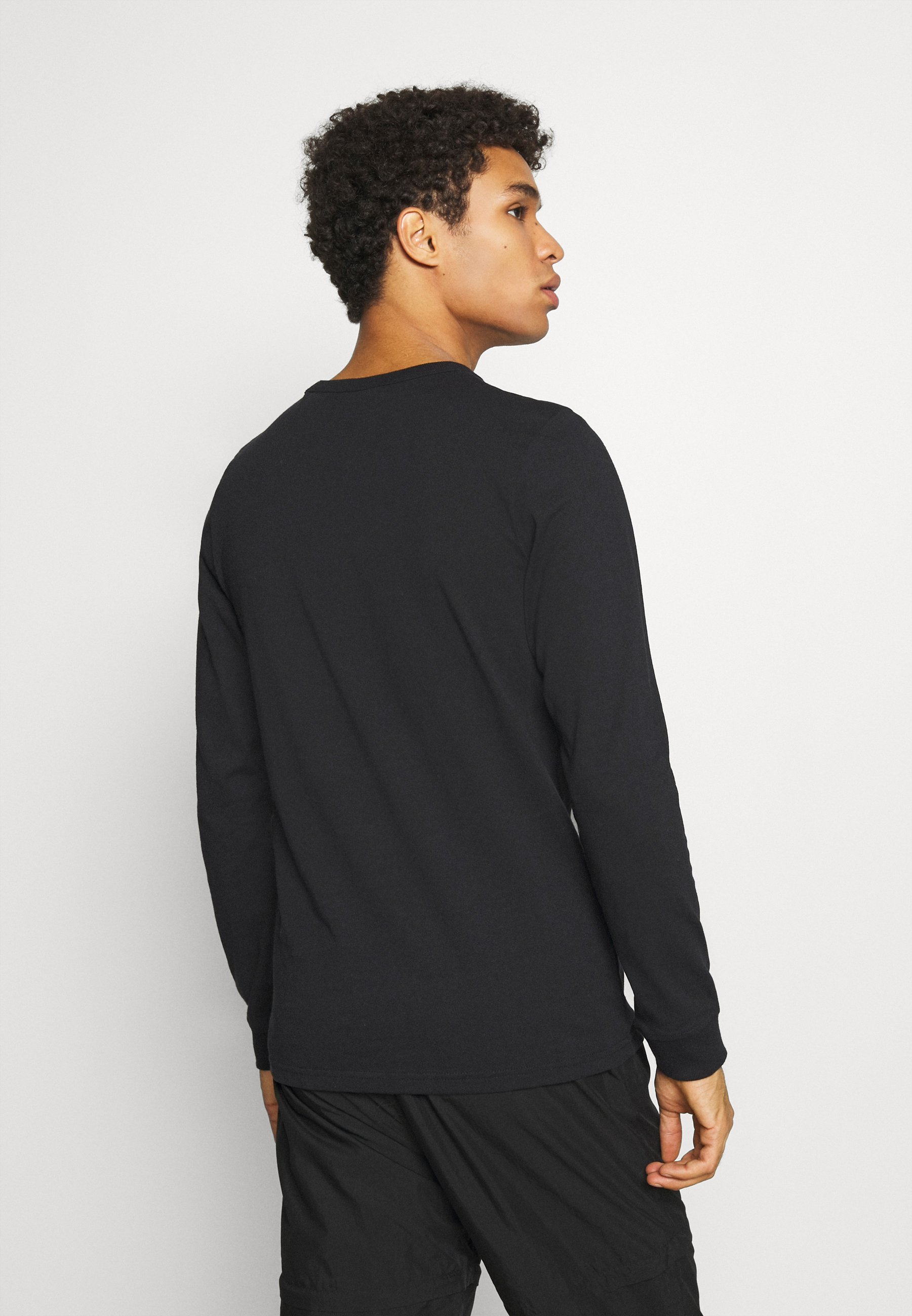 Jack & Jones JCOTOBY TEE CREW NECK - Long sleeved top - black 0ku9k