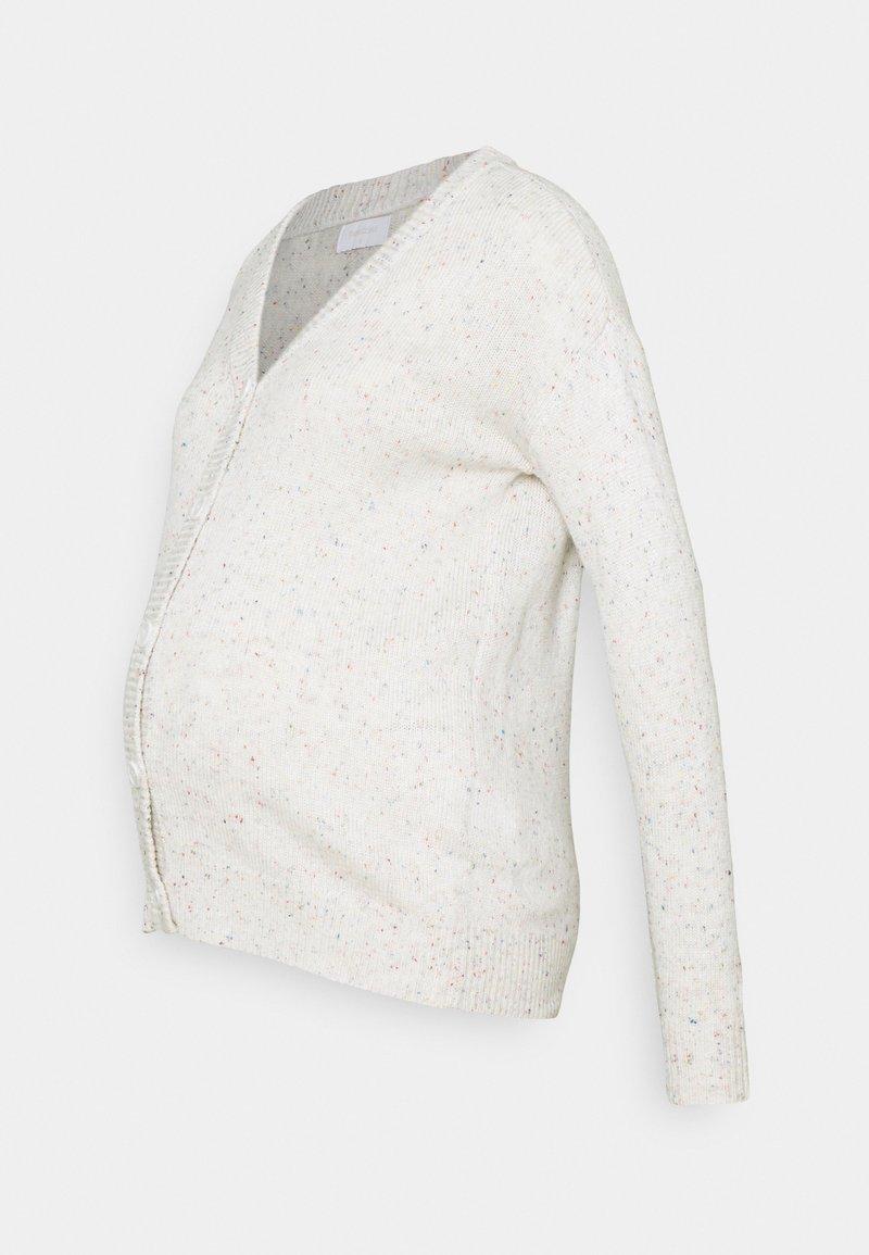 MAMALICIOUS - MLNICHELLE CARDIGAN - Cardigan - parchment