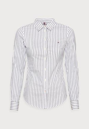 STRETCH POPLIN SLIM SHIRT - Button-down blouse - white