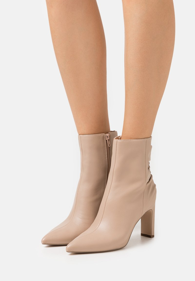 Zign - High heeled ankle boots - nude