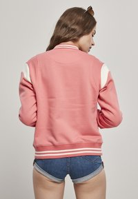 Urban Classics - LADIES INSET COLLEGE JACKET - Zip-up hoodie - palepink/whitesand - 1
