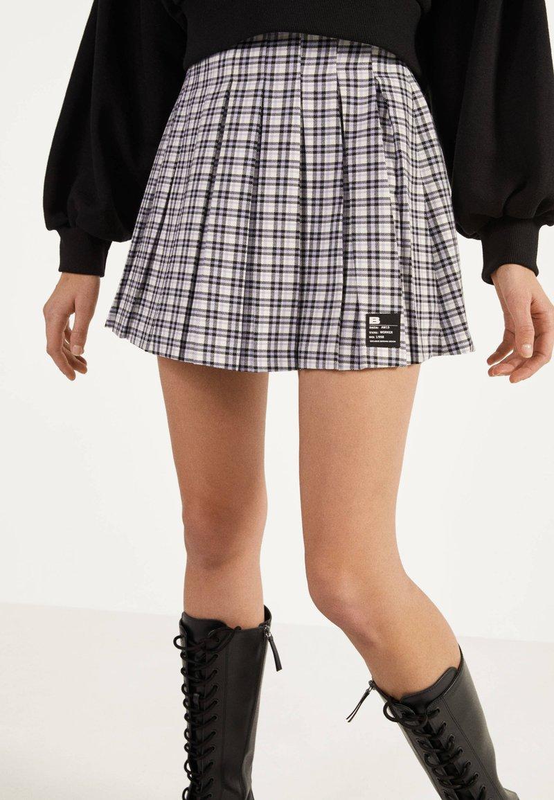 Bershka - Áčková sukně - mauve