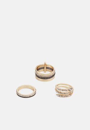 ACOINDRA 3 PACK - Ring - black/clear/gold-coloured