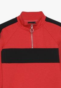 LMTD - NLFLAMIA ZIP DRESS - Jersey dress - poppy red/black - 3