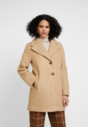 BOUCLE ONE BUTTON COAT - Zimní kabát - honey