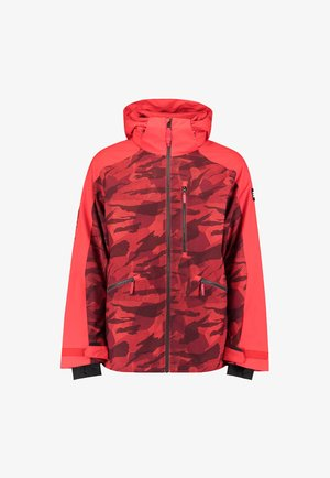 DIABASE  - Snowboard jacket - red aop