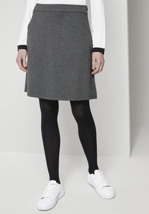 A-line skirt - dark grey herringbone