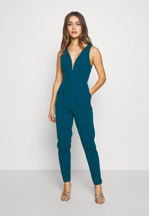 PETITE EXCLUSIVE V NECK - Tuta jumpsuit - teal