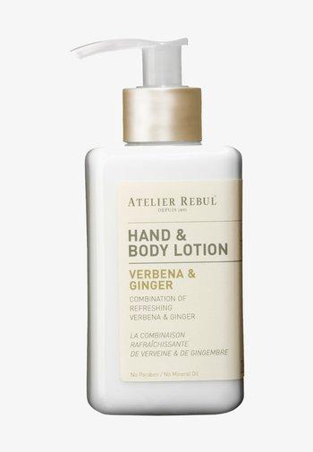 HAND & BODY LOTION VERBENA & GINGER 250ML - Moisturiser - -
