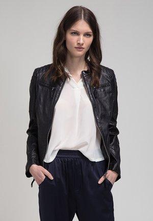 NICKITA - Leather jacket - schwarz