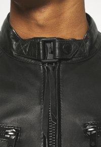 Tigha - TALON - Kožená bunda - black - 3