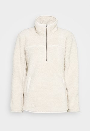 TRIM SHERPA ZIP - Fleece jumper - cream