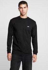 Vans - LEFT CHEST HIT - Bluzka z długim rękawem - black/white - 0