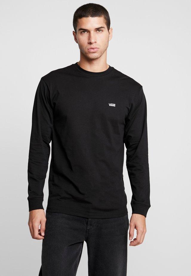 LEFT CHEST HIT - Bluzka z długim rękawem - black/white