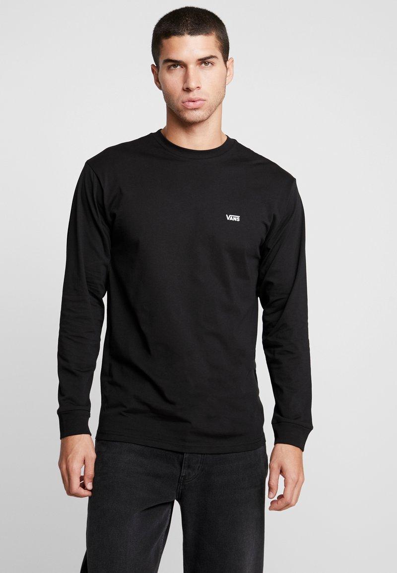 Vans - LEFT CHEST HIT - Bluzka z długim rękawem - black/white