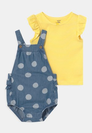 CHAMBRAY SET - Camiseta estampada - blue/yellow