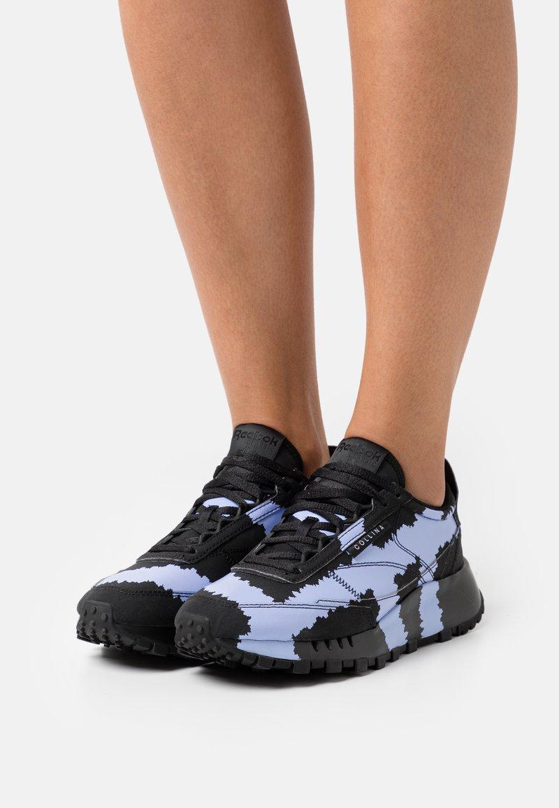 Reebok Classic - COLLINA STRADA X REEBOK CL LEGACY - Trainers - core black/lilac glow/footwear white