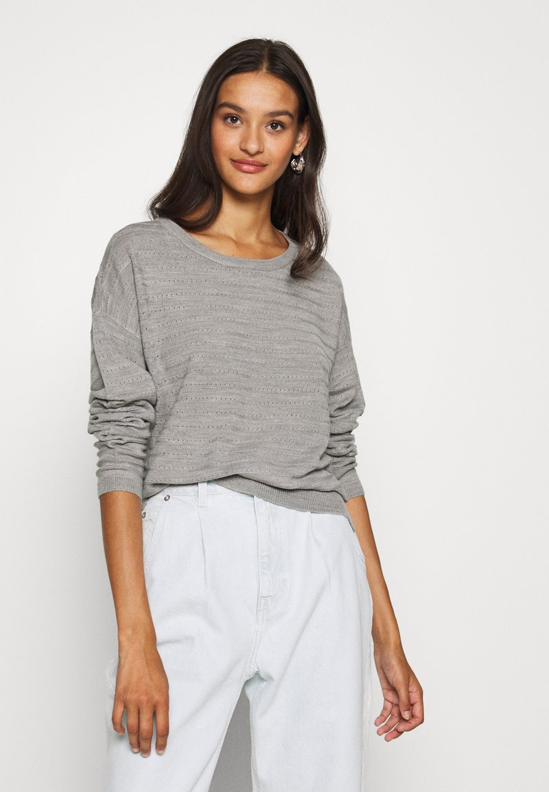 JDY - JDYGADOT - Jumper - light grey melange