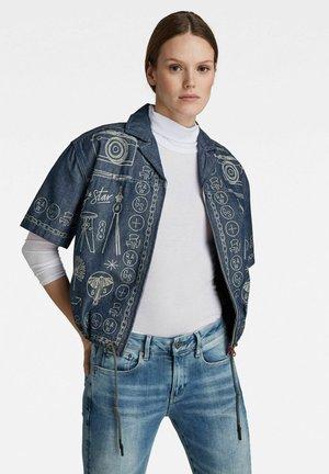 HAWAII PRINTED - Button-down blouse - blue denim