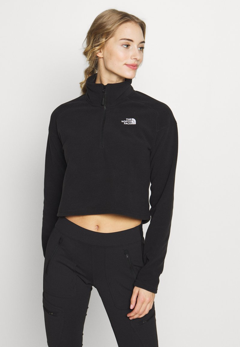 The North Face - GLACIER CROPPED ZIP - Fleece jumper - black