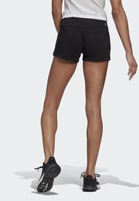 adidas Performance - ESSENTIALS SLIM LOGO SHORTS - Träningsshorts - black/white - 1
