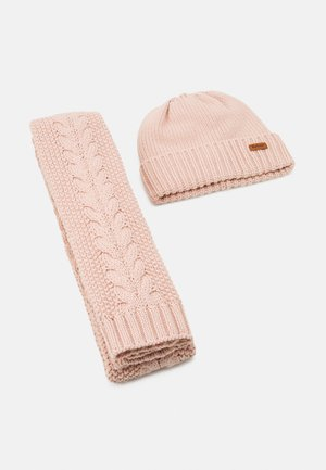 CABLE BEANIE SCARF SET - Scarf - pink