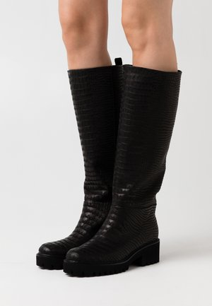 TINY - Platåstøvler - black