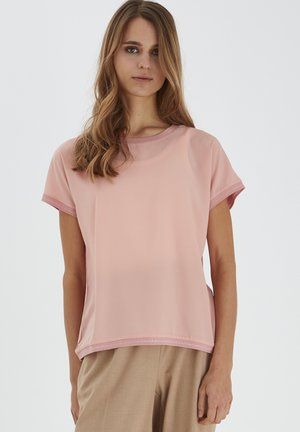 BYPANYA - T-shirt med print - rose tan