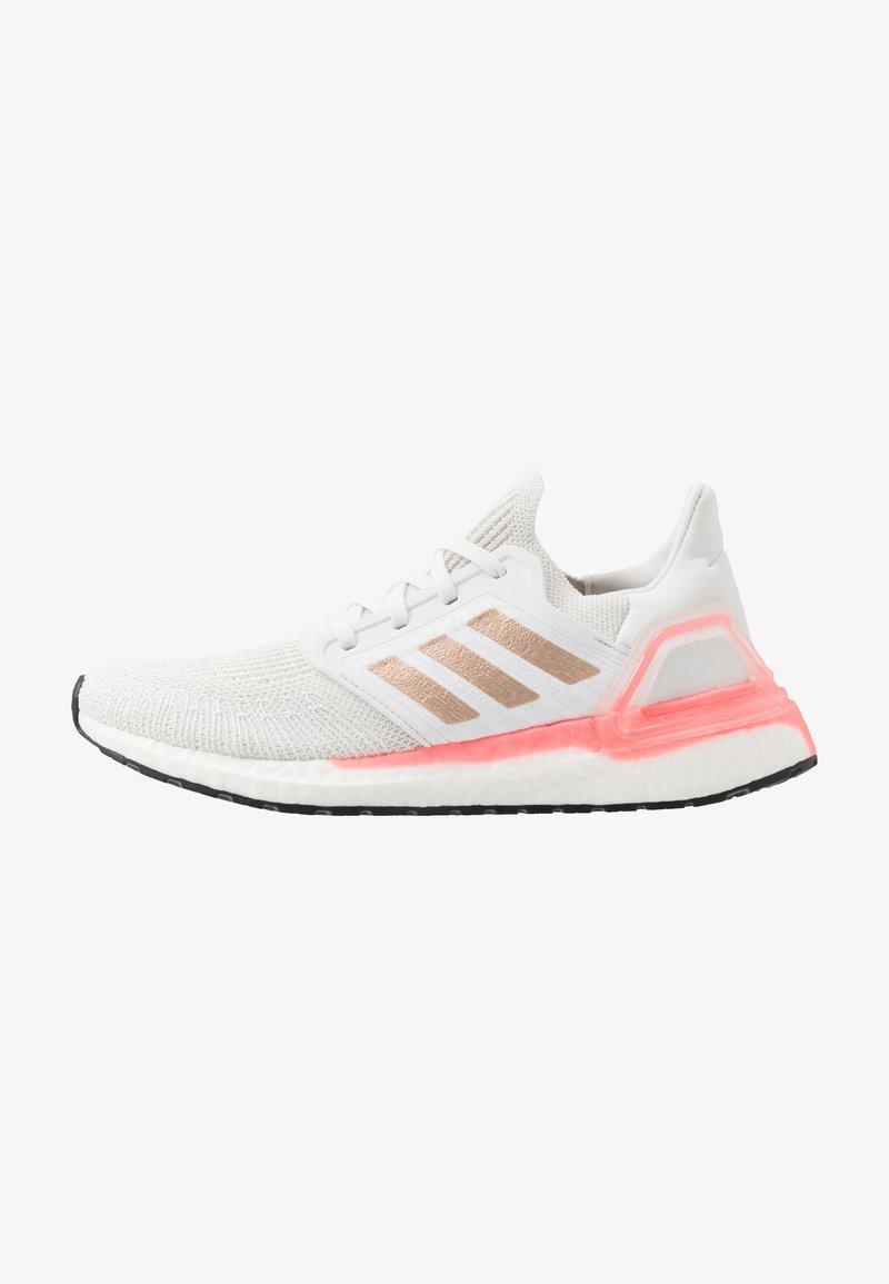 adidas Performance - ULTRABOOST 20  - Neutrální běžecké boty - crystal white/copper metallic/light flash red