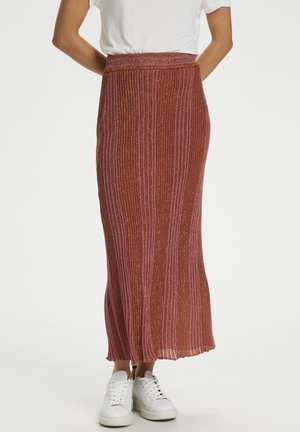 Maxi skirt - ginger bread brown w stripes