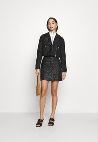 Miss Selfridge - QUILTED SKIRT - A-line skirt - black - 1