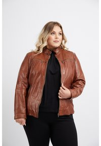 No.1 by Ox - Leather jacket - dark cognac - 0