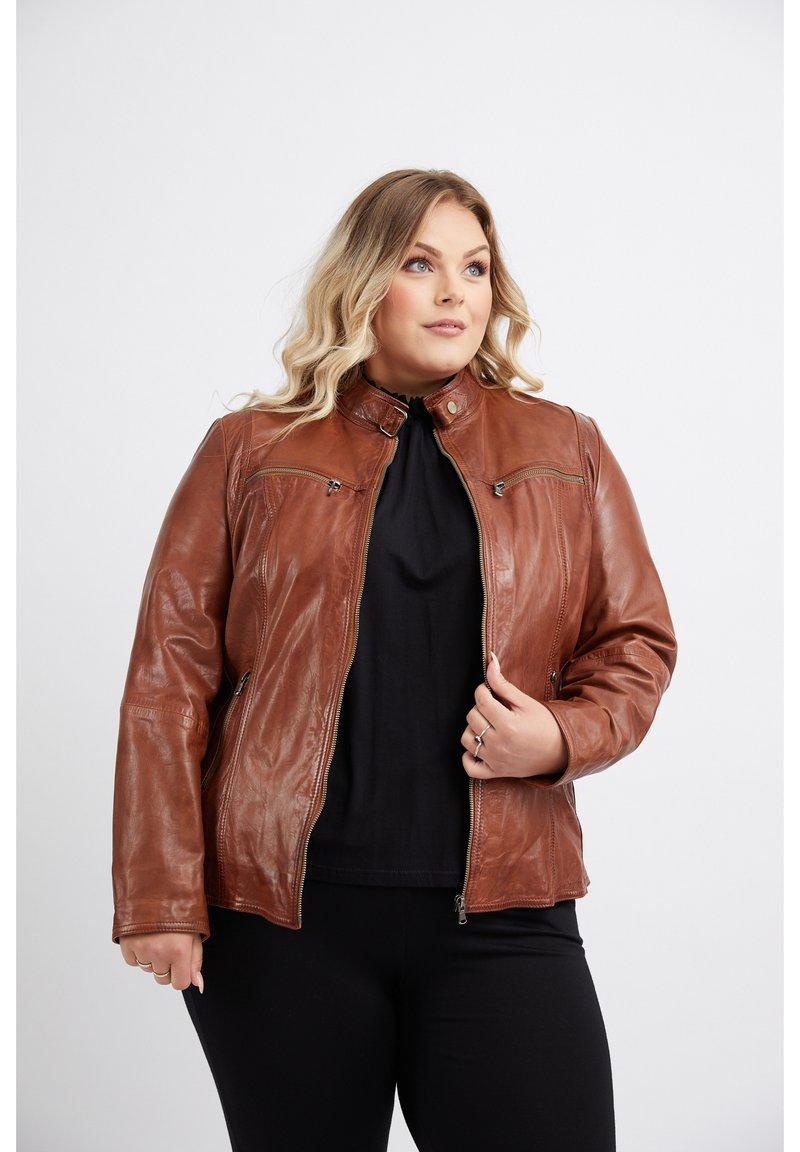 No.1 by Ox - Leather jacket - dark cognac