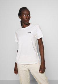Patagonia - LOGO CREW - T-shirts med print - white - 2
