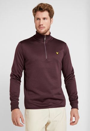 GOLF ZIP MIDLAYER - Fleecepullover - autumn berry