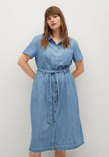 CLAIRE - Denim dress - hellblau