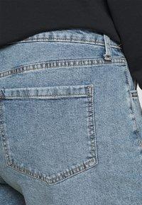 Cotton On Curve - HIGH WAISTED - Denim shorts - brunswick blue - 3