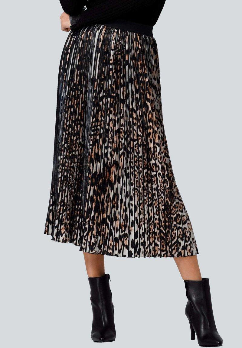 Alba Moda - A-line skirt - braun schwarz