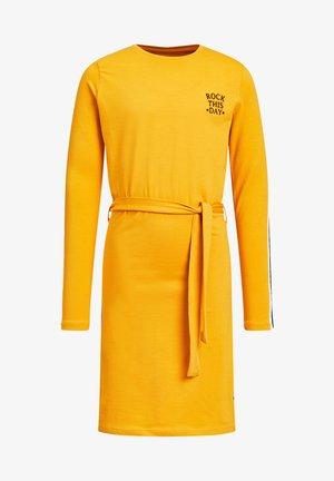 Korte jurk - ochre yellow